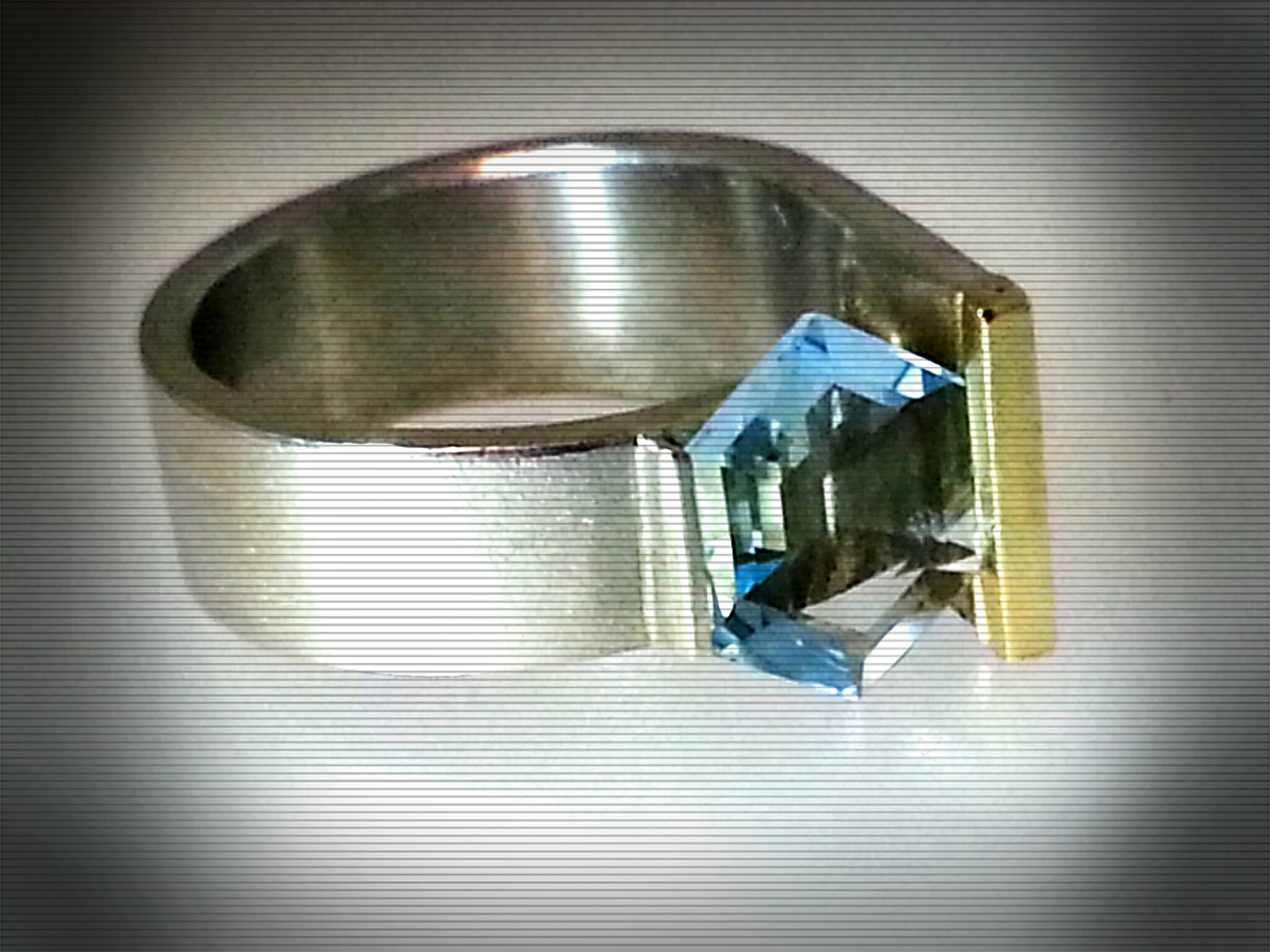 Ring Aquamarin bearb.